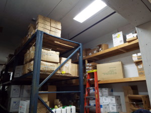 storage room after
