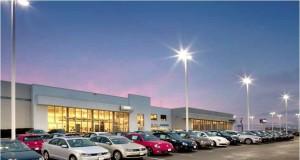 car dealership lot